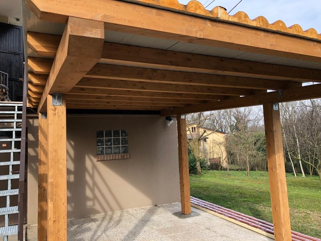 tettoie e porticati in legno